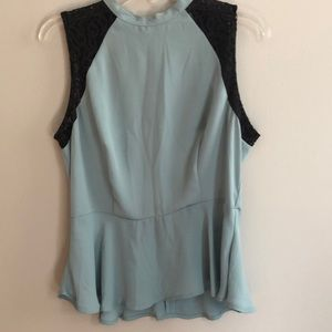 Sleeveless seafoam peplum